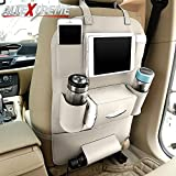 #9: AllExtreme PU Leather Car Auto Seat Back Multi Pocket Organizer and iPad mini Holder Backseat Organizer Hanger Accessory Universal Use as Car for Storage Bottles, Tissue Box, Magazines,Toys (Pack of 1(Cream))