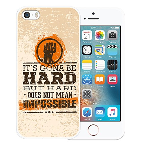 iPhone SE iPhone 5 5S Hülle, WoowCase Handyhülle Silikon für [ iPhone SE iPhone 5 5S ] Rock & Roll Gitarre Handytasche Handy Cover Case Schutzhülle Flexible TPU - Transparent Housse Gel iPhone SE iPhone 5 5S Transparent D0160