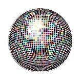 GRAZDesign Wandtattoo Steine selbstklebend Diskokugel - Wandtattoo Kristalle bunte Farben - Wandtattoo Kreis / 57x57cm / 851060_57