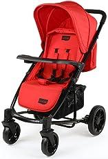 Luvlap Elite Baby Pram Stroller (Red)