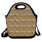 Tiger Leopard Lunch Bag Handtasche Lunchbox für Schule Arbeit Outdoor