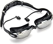 Swim Goggles,Swimming Goggles with Attached Ear Plugs Swimming Glasses No Leak,Fog UV Protection,with Free Protection Case,Su