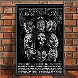 w15Y8 Jason Voorhees Freddy Kruger Classique Film d'horreur Affiche Affiche Toile Art Peinture Mur Image Photo (sans Cadre) W 60X90Cm