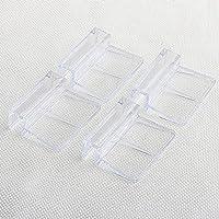 GEZICHTA 4 piezas transparente para acuario de pecera cubierta de cristal Clip soporte durable, 6