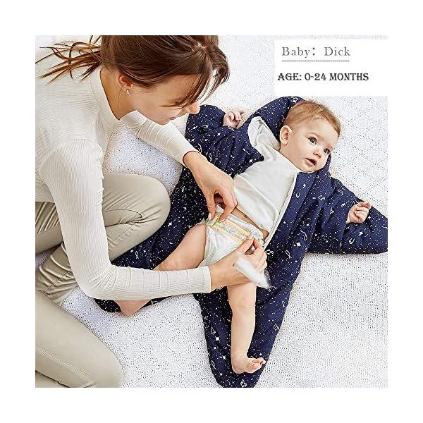 Saco de Dormir para bebé Manta usable de Invierno 100% Algodón Saco de Dormir para bebé, Saco de Dormir de Starfish Swaddling Bunting, Camisón recién Nacido