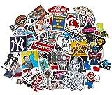 StickerFactory Lot de 150 autocollants tendances en vinyle Différents styles aléatoires Pour ordinateur portable, MacBook, voiture, vélo, skateboard, snowboard, bagage, valise, meubles Effet vintage