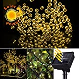 Home Garden Best Deals - Expower Solar Powered Fairy String Lights 66ft 20m 200 LED 2 Modes Christmas Lights for Outdoor, Gardens, Homes, Wedding, Christmas Party, Waterproof (200 LED Warm White)