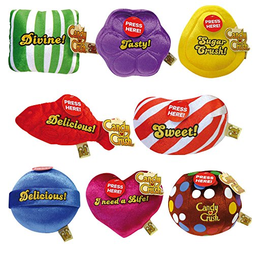 Jemini 022820 - Peluche sonoro di Candy Crush, Modelli Assortiti