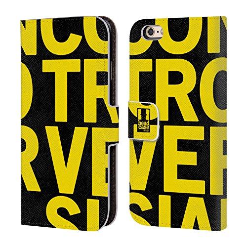 Head Case Designs Licorne Pop Trends Étui Coque De Livre En Cuir Pour Apple iPhone 4 / 4S Macrofont