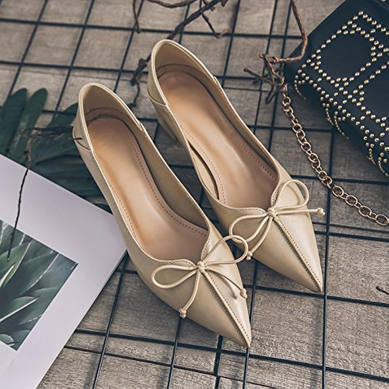 GAOLIM Schuhe Damen Schuhe für Frauen mit Damen-Schuhe Schuhe mit Schleife an der Spitze des Single Female-Schuheö