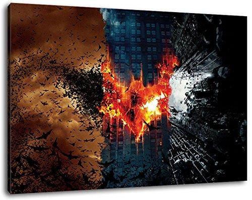 (Dark Batman Format 100x70 cmfertig gerahmte Kunstdruckbilder als Wandbild - Billiger als Ölbild oder Gemälde - KEIN Poster oder Plakat)