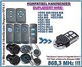 Hörmann HSM2 / HSM4 / HS1 / HS2 / HS4 / HSE2 / HSD2-A / HSD2-C / HSP4 / HSP4-C / HSZ1 / HSZ2 kompatibel handsender, klone fernbedienung, 4-kanal 868.3Mhz fixed code. Top Qualität Kopiergerät!!! (Nicht kompatibel mit BS BiSecur fernbedienungen)