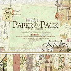"Eno Greeting Paper Pep Pattern Scrapbooking Paper Pack 12"" X 12"""