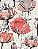 2017-2018 Planner: Red Floral Weekly Schedule Diary At A Glance   Get Things Done, School, College, Home, Academic Planner Calendar   Things To Do &   A4 Large   Soft Back Cover: Volume 10
