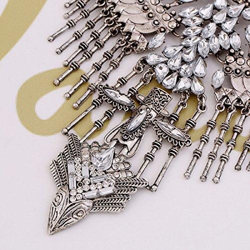 Accessoires De Mode Européens Et Américains Rétro Collier Mlle Jin Zhu silver