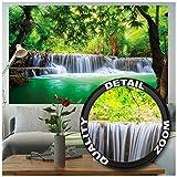 GREAT ART Póster Cascada de Feng Shui Mural Decoración Naturaleza Selva Paisaje Paraíso Vacaciones Tailandia Asia Wellness SPA Relax | Foto póster Mur