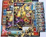 Lego-Nexo-Knights-Sammelkarten-Sammelmappe-10-Booster-Gold-Karte-Ultimativer-Clay