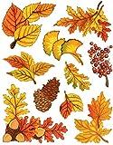 Fensterbilder Set 10-teilig - Herbst Blätter Ahorn Eiche Gingko Eicheln