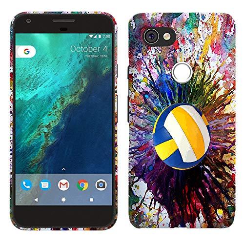 Glisten Schutzhülle für Google Pixel 3 XL (Hartplastik, zum Aufstecken, Motiv Volleyball)