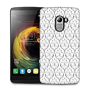 Snoogg V Shaped Floral Designer Protective Phone Back Case Cover For Lenovo Vibe K4 Note