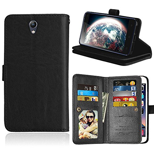 Casefirst Lenovo Vibe S1 PU Wallet Case, Lenovo Vibe S1 PU Leather Case, Premium PU Leather Man Folio Stand Bumper Back Cover for Lenovo Vibe S1 PU - Black