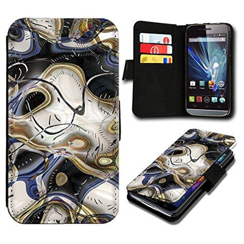 Book Style Wiko Fizz Premium PU-Leder Tasche Flip Brieftasche Handy Hülle mit Kartenfächer für Wiko Fizz - Design Flip SV127