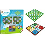 FAMILY CENTER FAMILY TIME WOODEN SNAKES & LUDO GAME BOARD 36-1846568