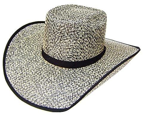 Modestone Taditional Bangora Rodeo Straw Chapeaux Cowboy Grey