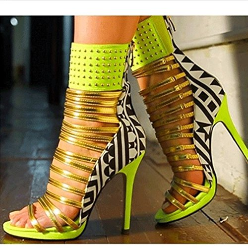 Super Size High-Heels Schuhe Personalisierte Sandalen Green