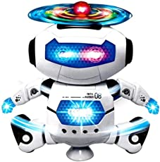 Fun Dancing Robot Electronic Toys with Music Lightening Toys Gift for Kids Children