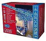 Konstsmide 3610-400 Micro LED Lichterkette/für Außen (IP44) / 24V Außentrafo / 40 blaue Dioden/schwarzes Kabel