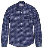 Superdry Herren T-Shirt Poolside Slim L/S Shirt, Größe:L, Farben:Broken Dot Navy