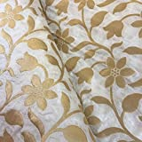 #4: Fab Couture Silk Jacquard White Unstitched Fabric