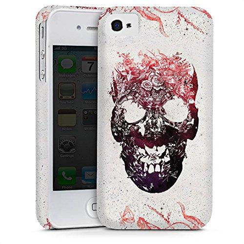 Apple iPhone 5s Housse Étui Protection Coque Tête de mort Crâne Crâne Cas Premium mat