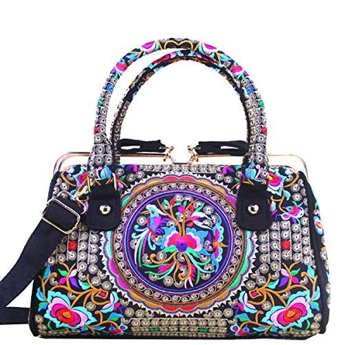 Yy.f Nuova Fibbia Di Fascia Alta National Wind Mobile Messenger Bag Femminile Il Sacchetto Di Cuscino Moda Esterna Pratico Interno 2 Colori B