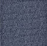 0,5m Popeline Fantasy dunkelblau 100% Baumwolle Meterware