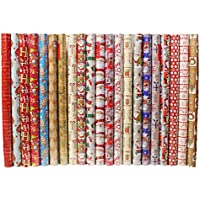 4 x 10m Christmas Wrapping Paper Rolls - Kids Snowman / Santa / Penguin / Reindeer