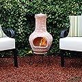 Kingfisher 85cm Medium Terracotta Wood Burning Chiminea Outdoor Garden Furniture from Bonningtons