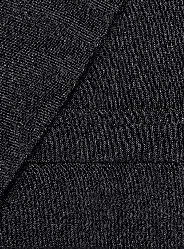 oodji Ultra Homme Veston Cintré Classique Noir (2900N)
