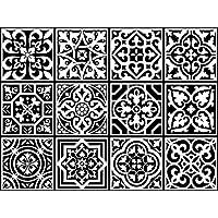 Vinyl Quadratisch Aufkleber Selbstklebend Portugiesisch Aufkleber Fliesen  Fado Collection. Einfache Anwendung, Backsplash, Treppensteiger