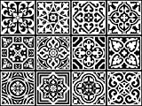 Vinilo decorativo cuadrado autoadhesivo removible para pared pegatinas con diseño de azulejos portugueses de fácil aplicación para baño, cocina y decoración colección Fado, set de 12 (15x15cm c/u)