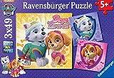 Ravensburger Pack de 3 Puzzles Charmantes chiennes Pat Patrouille 49 pièces, 08008