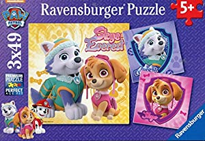 Paw Patrol - Puzzles cachorros fascinantes, 3 x 49 piezas (Ravensburger 80083)