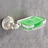 LY-Soap dish Europäische Badezimmerfarbe Antike Seife Netto Goldseife Regal Badezimmer Seife Box Geschnitzt Hardware-Anhänger