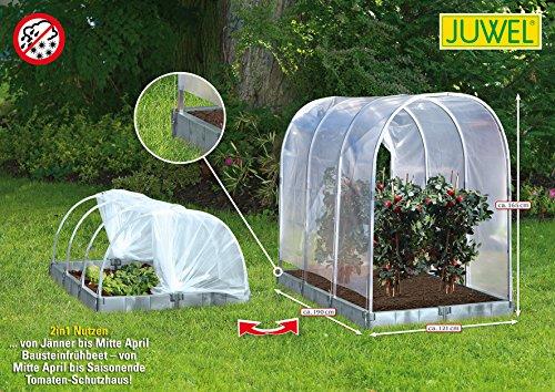 """JUWEL 20550 Tomaten Schutzhaus oder Frühbeet """"2 in 1"""" basalt Tomatenhaus 190x121cm Höhe 165/80cm"""