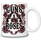 Guns N Roses Logo Taza Coffee Mug Ceramic Coffee Tea Beverage Kitchen Mugs By Genuine Fan Merchandise