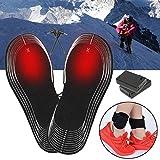 LaDicha Negro Batería Eléctrica Caliente Zapato Plantillas Invierno Calentamiento Al Aire Libre Calentador De Pie Transpirable Desodorante