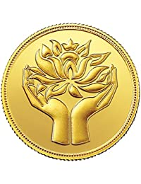 MMTC-PAMP India Pvt. Ltd. 10 gm, 24k (999.9) Yellow Gold Lotus Precious Coin