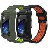 MoKo Compatibile con Gear Fit2 / Gear Fit2 PRO Cinturino, [2-Pack] Braccialetto Morbido Sportivo di Ricambio in Silicone…