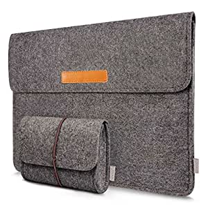 "Inateck Custodia morbida tipo sleeve in feltro per laptop Macbook Air/Pro Retina 13.3 pollici/iPad Pro 12.9"" Ultrabook Grigio Scuro"